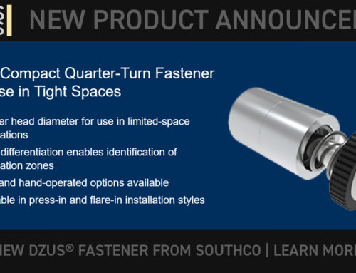 SOUTHCO: New Compact Quarter-Turn Fastener for Use in Tight Spaces