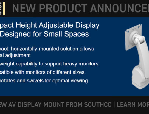 SOUTHCO: New Product: Compact Height Adjustable Display Arm