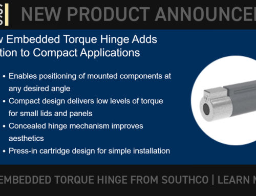 SOUTHCO: New Product: Embedded Torque Hinges